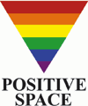 positive space inverted triangle